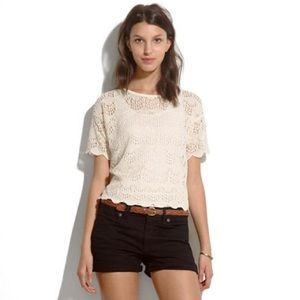 Madewell Broadway & Broome Knit Woven Top